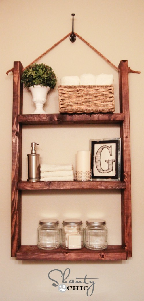 Blukatkraft Diy Quick Easy Wall Art For Bathroom: 20+ Brilliant DIY Shelves For Your Home