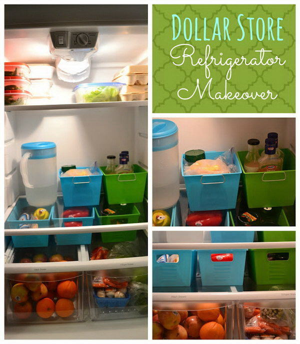 Organize Your Fridge with Small Bins.