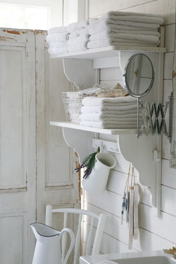 25 awesome shabby chic bathroom ideas for creative juice - Mensole bagno shabby chic ...