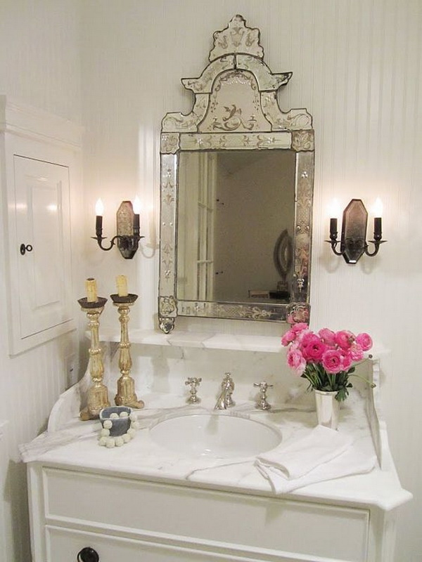 Marble Sink With Venetian Mirror.
