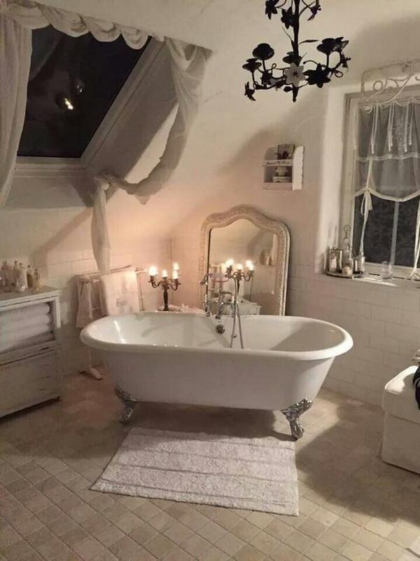 Romantic, Shabby Chic Bathroom.