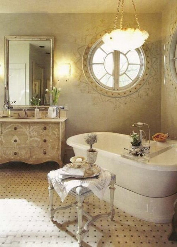 Vintage Chic Bathroom.