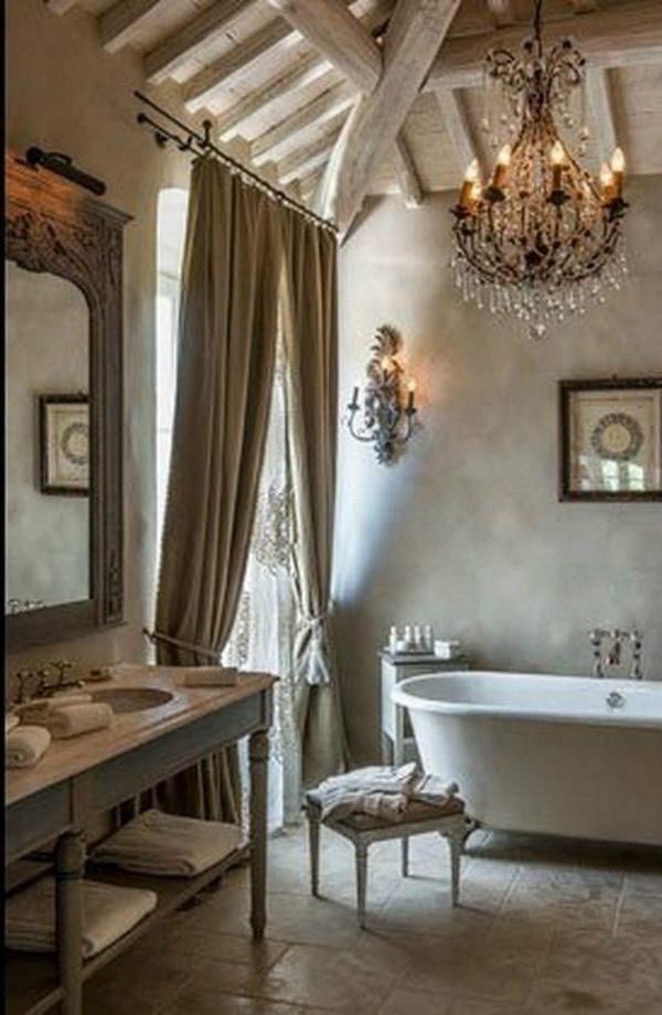 Rustic Chic Bathroom.