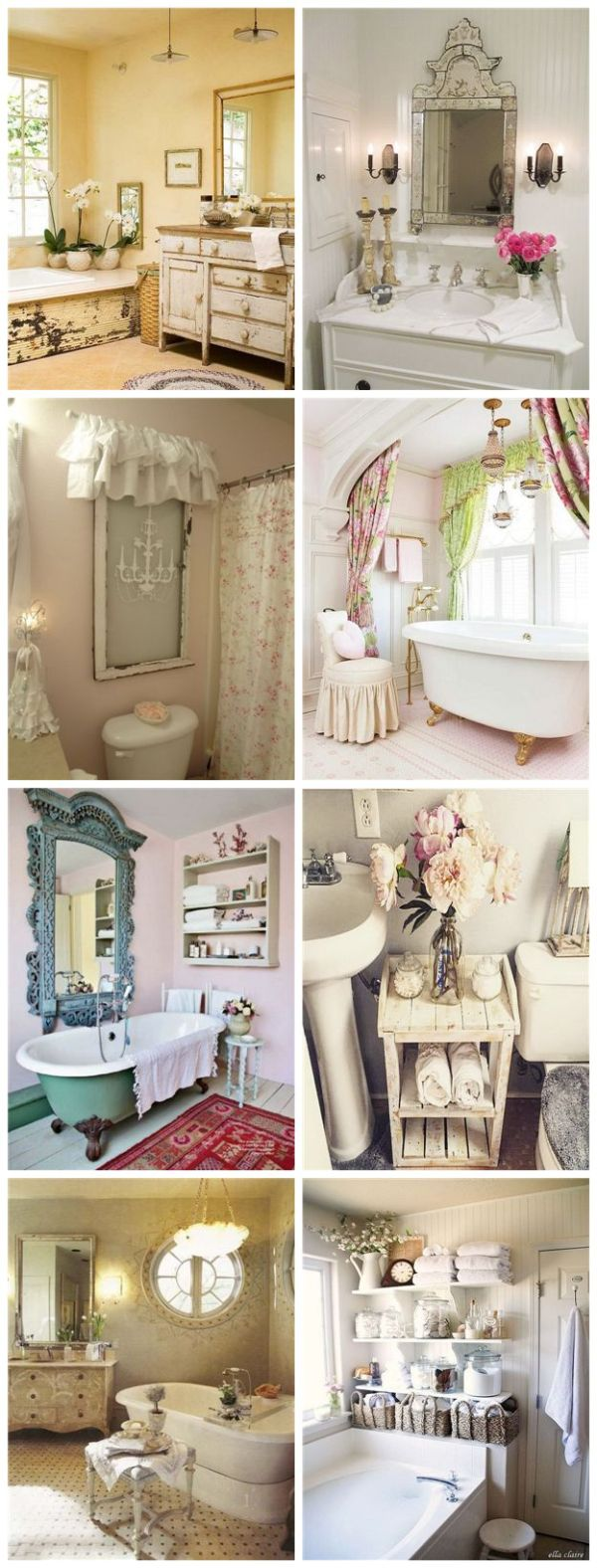 25 awesome shabby chic bathroom ideas for creative juice for Salon style shabby chic