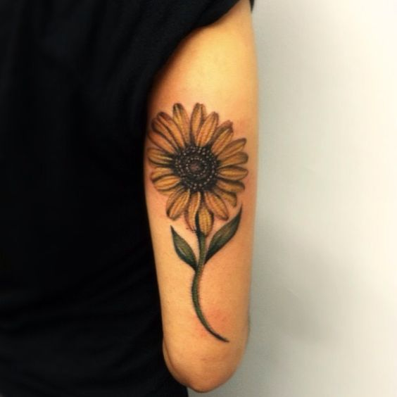 Sunflower Tattoo on Side Arm.