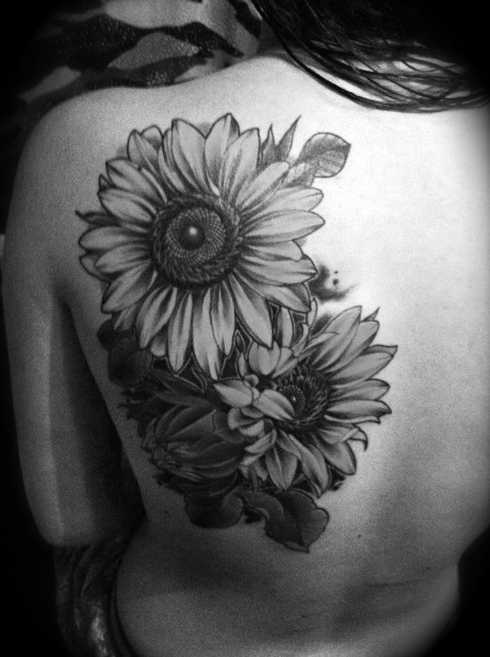 Sunflower Tattoo Shoulder.