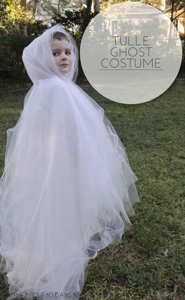 DIY Tulle Ghost Costume.