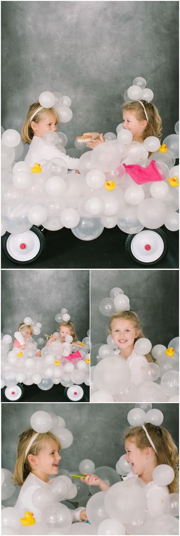 DIY Bubble Bath Halloween Costume.