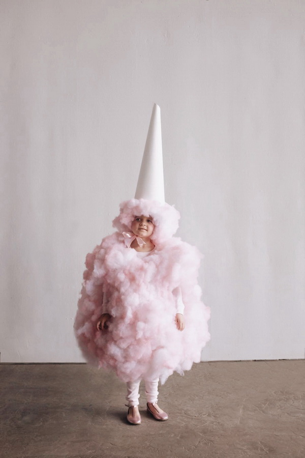 Amazing DIY Cotton Candy Costume For Kids.