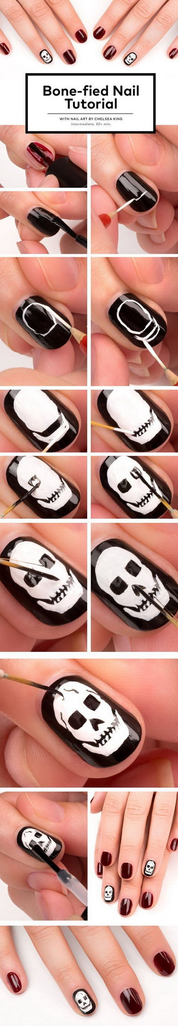 Spooky and Cute Halloween Nail Art.