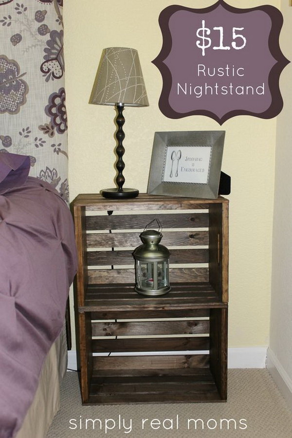 crate furniture diy. diy 15 rustic nightstand gather up two of wooden crates and you can turn them crate furniture diy o
