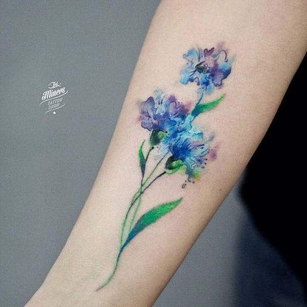 50 pretty flower tattoo ideas for creative juice rh forcreativejuice com forget me not flowers tattoo designs forget me not flower tattoo meaning
