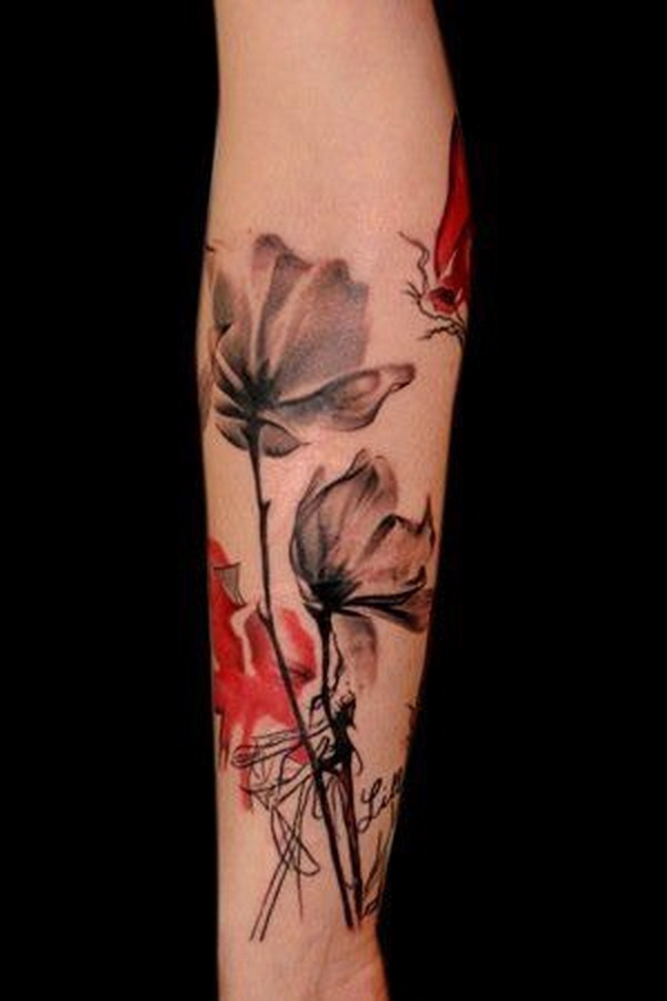 So Pretty Floral Tattoo.