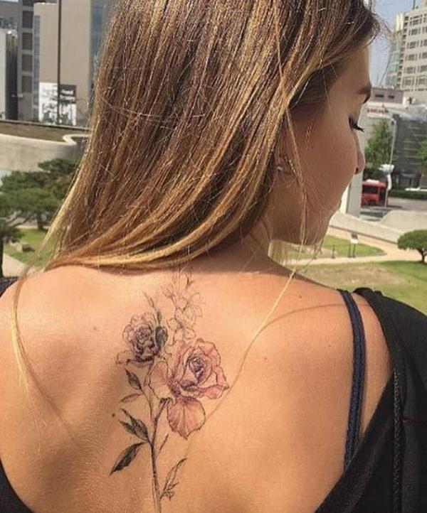 Floral Back Piece.
