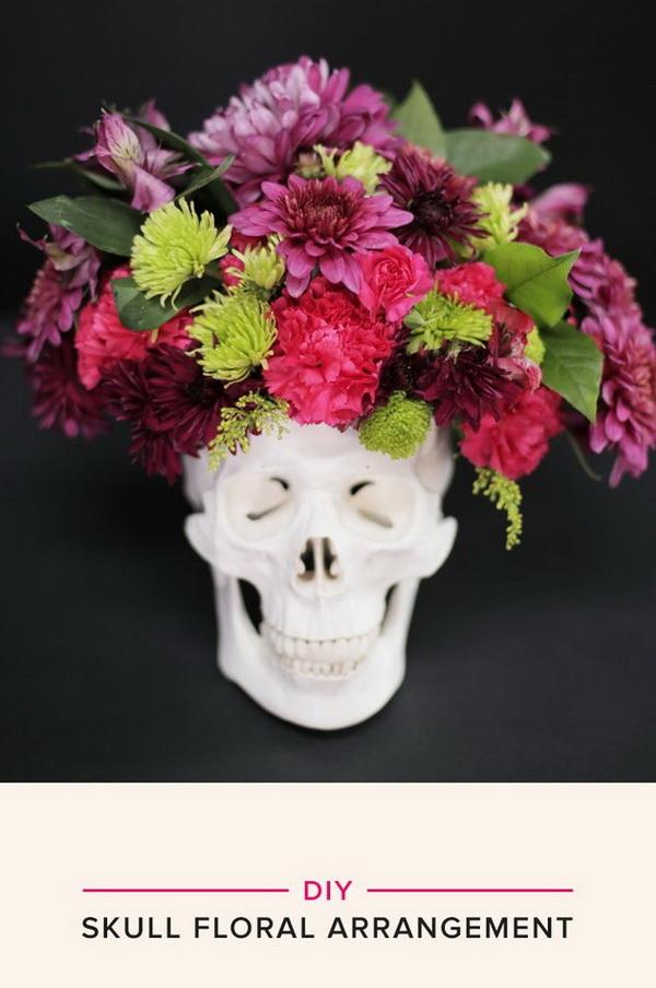 Skull Floral Arrangement.