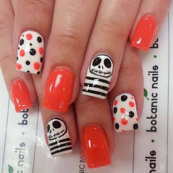 Halloween Fingernail Designs. Halloween Nail Art Ideas. - 50+ Spooky Halloween Nail Art Designs - For Creative Juice