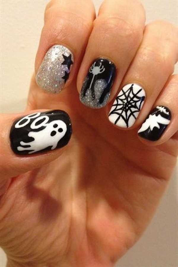 50 spooky halloween nail art designs for creative juice halloween fingernail designs halloween nail art ideas prinsesfo Gallery