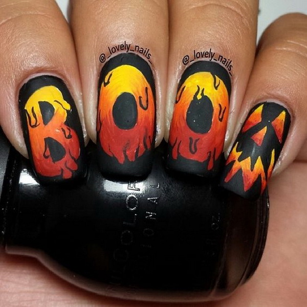 BOO Halloween Nail Art Ideas. Halloween Nail Art Ideas.