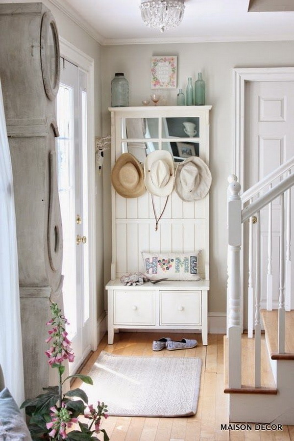 French style neutral decor for entryway decor.
