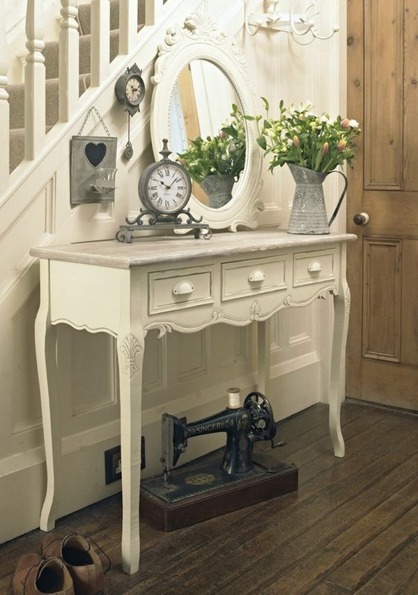 Vintage French Entryway Table.