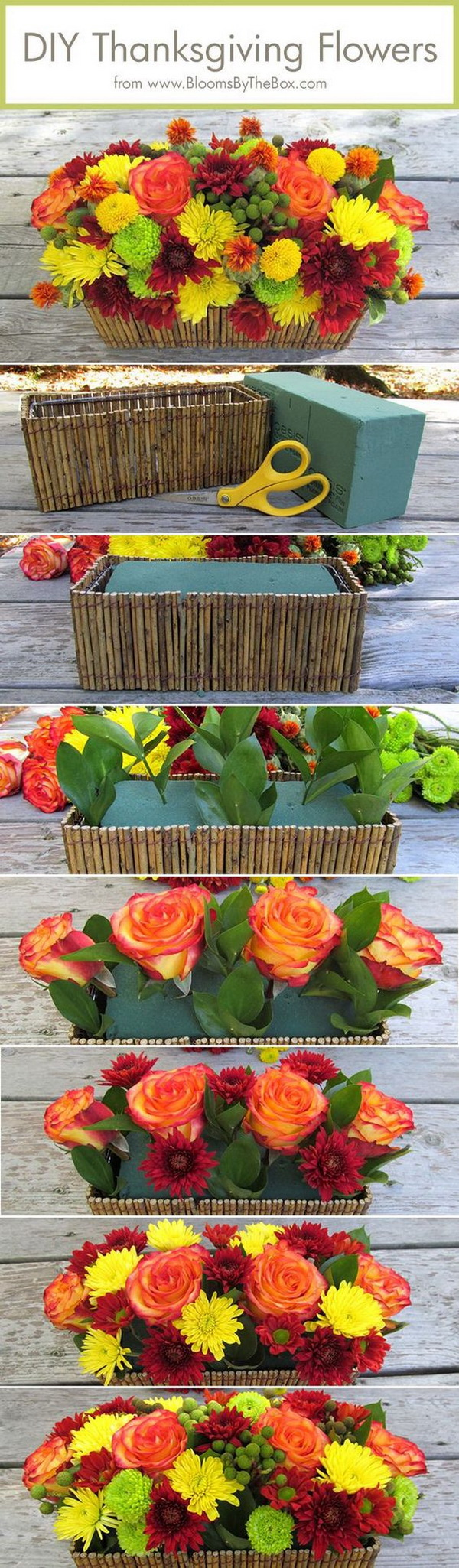 DIY Thanksgiving Flower Arrangement. Another great Thanksgiving decor with flowers that brightens up your home decor and keeps you within a budget!