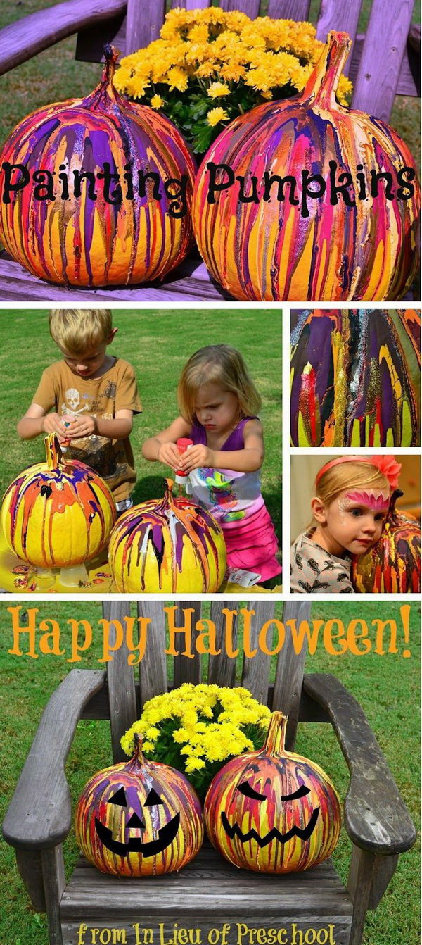 Fun Pumpkin Drip Painting Idea for Kids. There are some seriously fun pumpkin activities for kids to do!