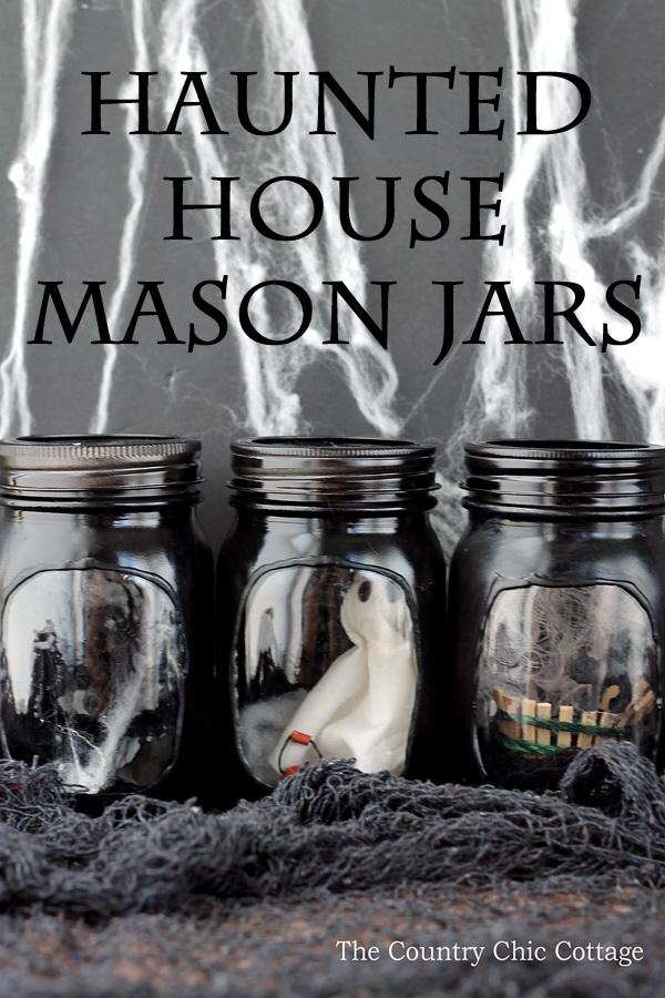 Haunted House Mason Jar.