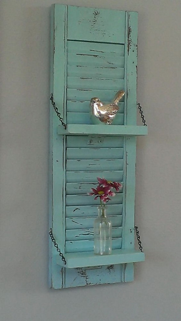 Rustic Shabby Chic Shelf. <
