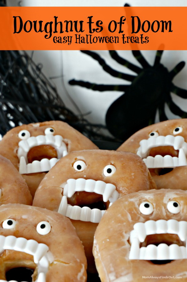 Handmade Doughnuts of Doom Halloween Treat.
