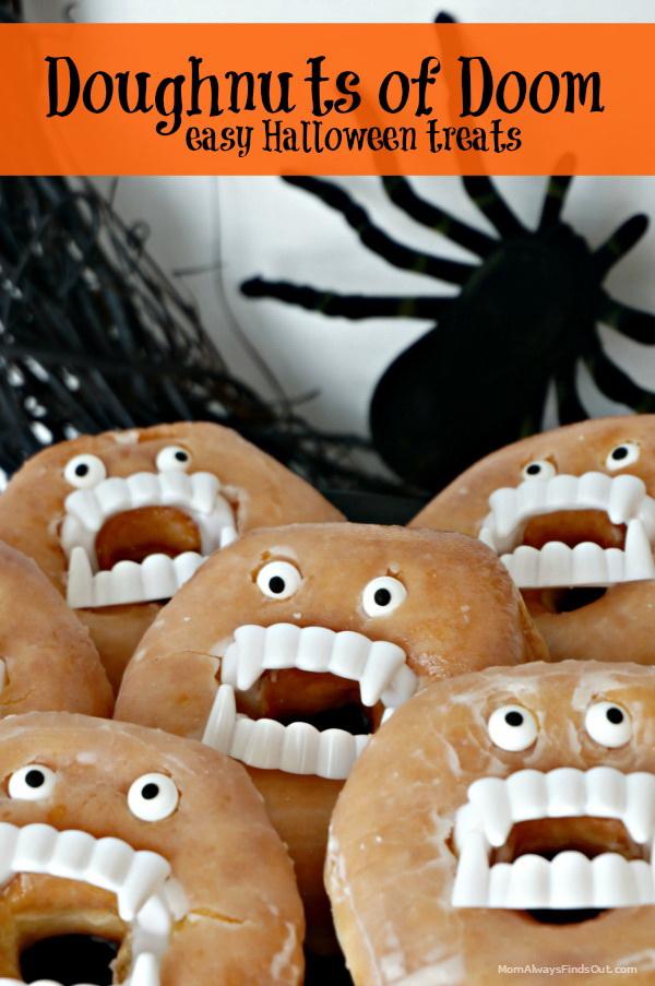 Handmade Doughnuts of Doom Halloween Treat.