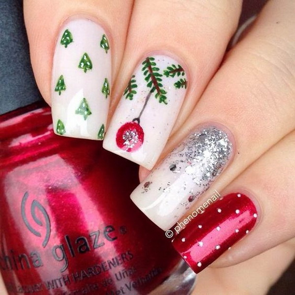 Perfect Festive Nail Art Design.