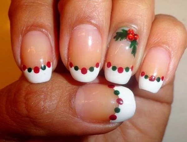 Christmas DIY Nail Art Design.