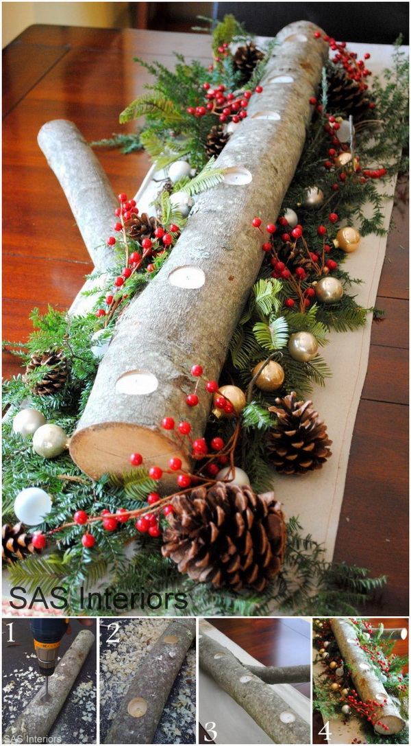 45+ Cool DIY Rustic Christmas Decoration Ideas & Tutorials - For ...