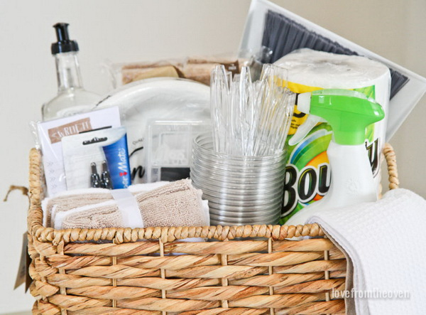 A Housewarming Gift Basket.