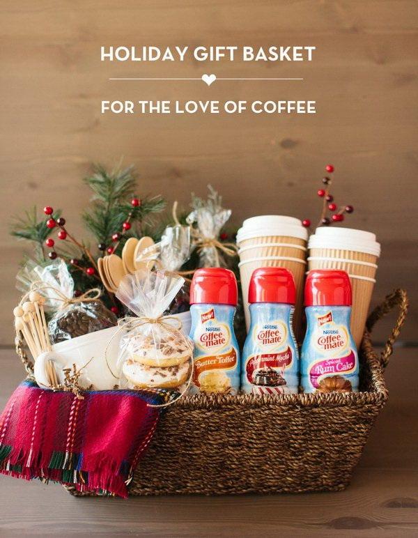 Coffee Holiday Gift Basket.