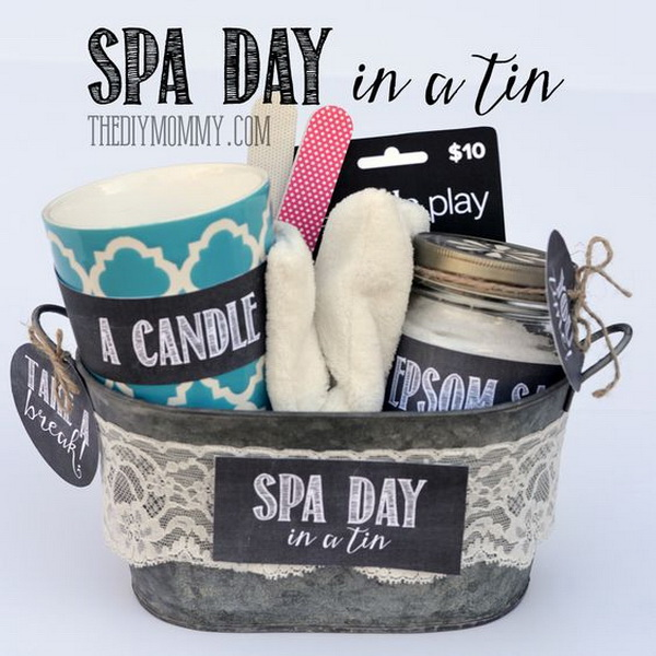Spa Day Gifts in a Tin.
