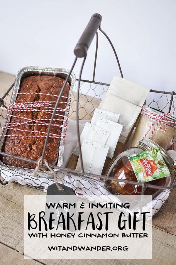 Warm Breakfast Basket Gift Idea.