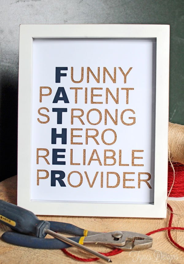 DIY Canvas for Father. Father is funny, patient, strong, hero, peliable, provider. Show your love for your dad with this personalized canvas.