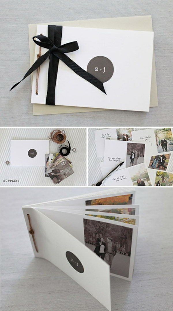 DIY Photo Book. An awesome holiday gift for men in your life, like your dad, boyfriend... And it is also super easy to create!
