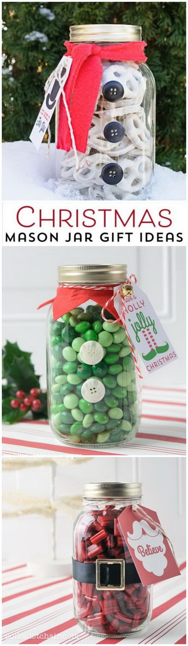 christmas mason jar gift idea