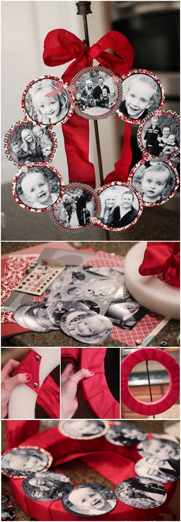 Christmas Family Photo Wreath.