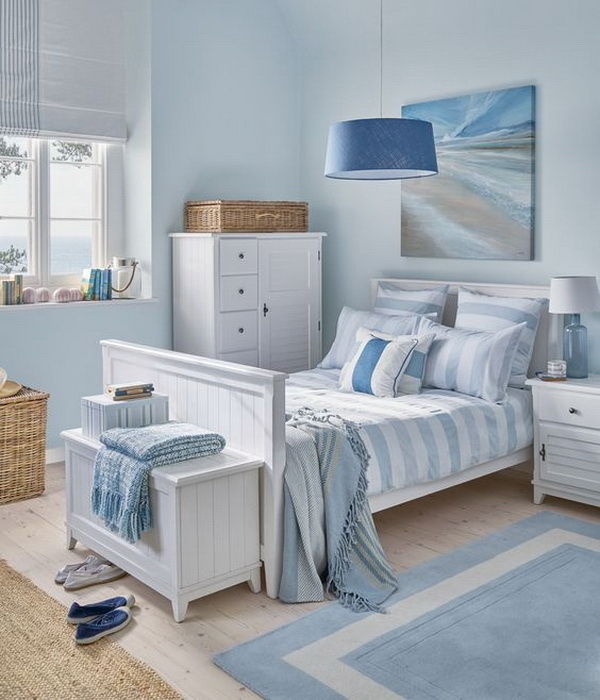 Coastal bedroom design and decoration ideas for creative for Cool blue bedroom ideas