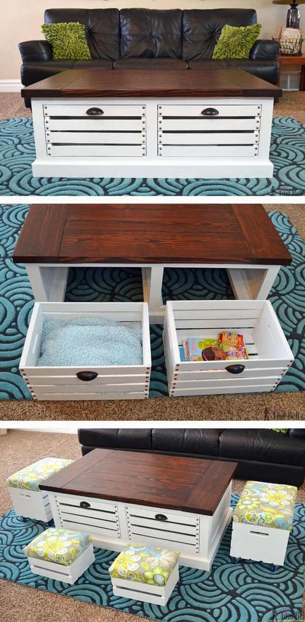 crate furniture diy. Wood Crate Furniture Diy. Diy Storage Coffee Table. Is Very Popular Right
