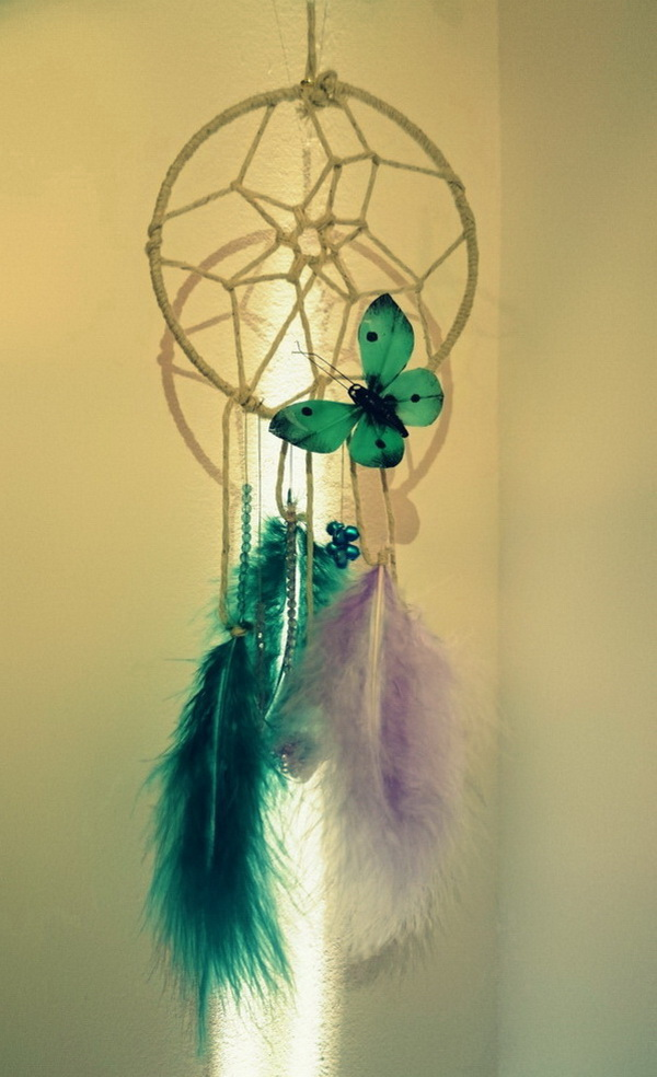 DIY Butterfly Dream Catcher.