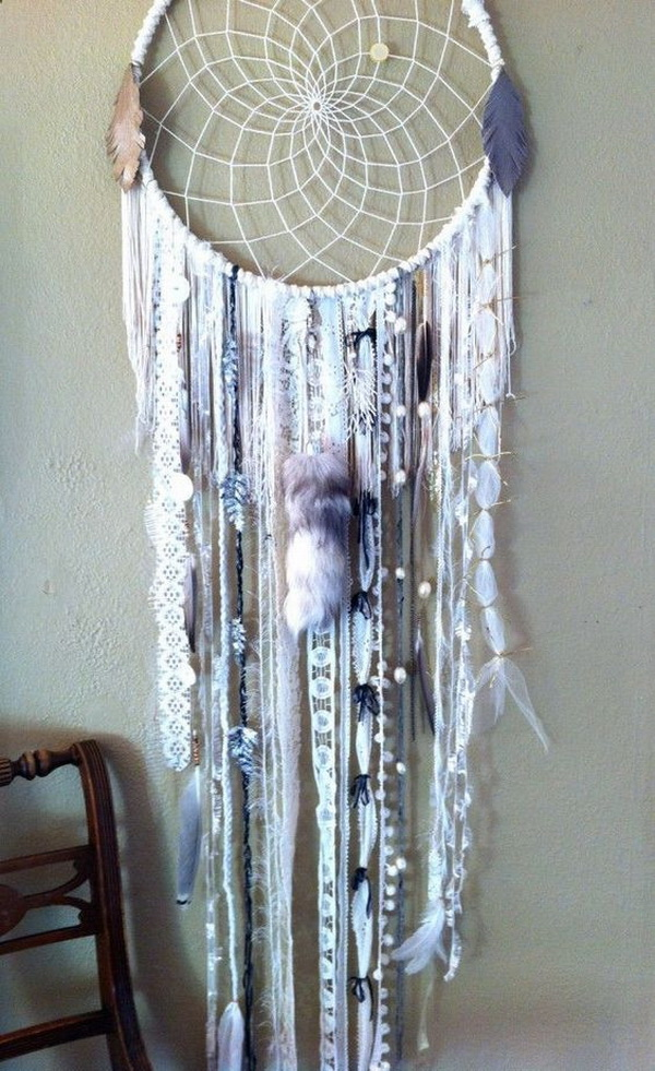White chic dream catcher for your inspiration.
