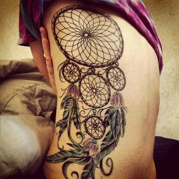 Dreamcatcher tattoos.