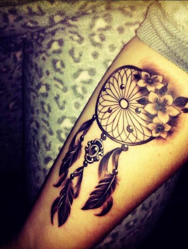 Dreamcatcher tattoo design ideas.