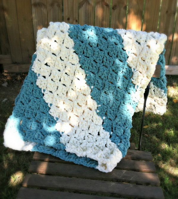 Corner to Corner Quick and Easy Baby Blanket.