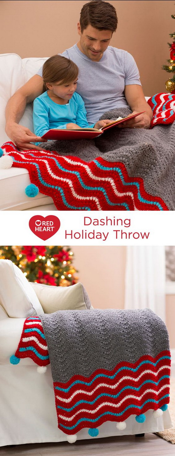 Dashing Holiday Throw.