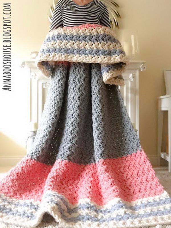 Squishy Crochet Blanket.